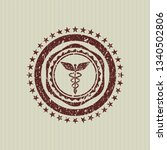 red caduceus medical icon...   Shutterstock .eps vector #1340502806