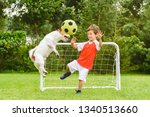 Kid Playing Football  Soccer ...