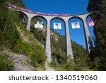 famous landwasser viaduct...   Shutterstock . vector #1340519060