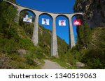 famous landwasser viaduct...   Shutterstock . vector #1340519063