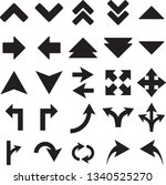 direction arrows icons set.... | Shutterstock .eps vector #1340525270