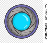 camera aperture icon in cartoon ... | Shutterstock .eps vector #1340530799