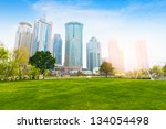 greenbelt park with lujiazui... | Shutterstock . vector #134054498