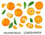 tangerine or mandarin with...   Shutterstock . vector #1340549459