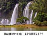 detian waterfall   ban gioc ... | Shutterstock . vector #1340551679