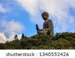 photograph of tian tan buddha ... | Shutterstock . vector #1340552426