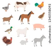 Farm Animals Set. Domestic...