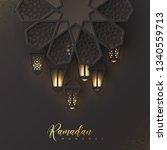 ramadan mubarak holiday design. ...   Shutterstock .eps vector #1340559713