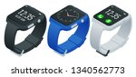athlete smart watch or fitness...   Shutterstock .eps vector #1340562773