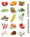 vegetables nuts and species... | Shutterstock . vector #134059049