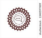 red speech bubble icon inside...   Shutterstock .eps vector #1340597009
