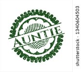 green auntie rubber seal with...   Shutterstock .eps vector #1340604503