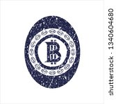 blue bitcoin icon inside...   Shutterstock .eps vector #1340604680
