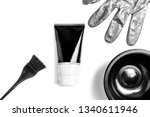 set of professional black... | Shutterstock . vector #1340611946