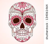 day of the dead colorful skull... | Shutterstock .eps vector #134061464