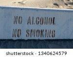 No Alcohol  No Smoking Sign In...