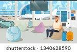 businessman on trip  traveling... | Shutterstock .eps vector #1340628590