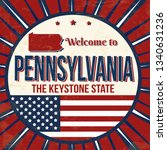 Welcome To Pennsylvania Vintag...