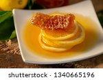 lemon juice with honey on...   Shutterstock . vector #1340665196