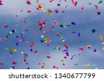 colorful party confetti against ...   Shutterstock . vector #1340677799
