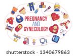 pregnancy and gynecology... | Shutterstock . vector #1340679863