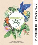 tropical hawaiian party...   Shutterstock .eps vector #1340687639