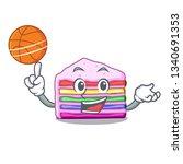 With Basketball Rainbow Cake On ...