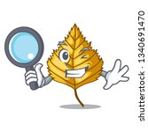 detective birch leaf isolated...   Shutterstock .eps vector #1340691470