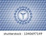 caduceus medical icon inside...   Shutterstock .eps vector #1340697149