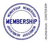 grunge blue membership word...   Shutterstock .eps vector #1340705309