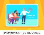 visitors couple sitting at... | Shutterstock .eps vector #1340729513