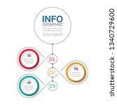 vector infographic template for ... | Shutterstock .eps vector #1340729600