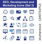 seo  development and marketing... | Shutterstock .eps vector #1340731913