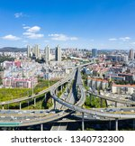 overpass and winding road in... | Shutterstock . vector #1340732300