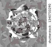 moonlight on grey camo pattern | Shutterstock .eps vector #1340733290