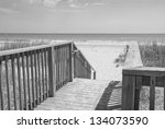 a black and white of a walk  ... | Shutterstock . vector #134073590