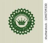 green queen crown icon inside...   Shutterstock .eps vector #1340739230