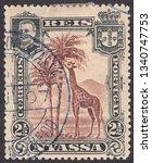 nyassa   circa 1901  a stamp... | Shutterstock . vector #1340747753