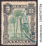 nyassa   circa 1901  a stamp... | Shutterstock . vector #1340747756