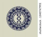 blue dna icon inside grunge...   Shutterstock .eps vector #1340747993