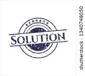 blue solution distress rubber...   Shutterstock .eps vector #1340748050