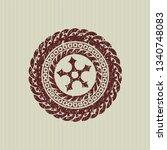red ninja star icon inside...   Shutterstock .eps vector #1340748083