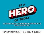 comics style font design ... | Shutterstock .eps vector #1340751380