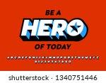comics style font design ... | Shutterstock .eps vector #1340751446