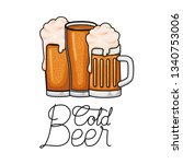 cold beer label isolated icon | Shutterstock .eps vector #1340753006