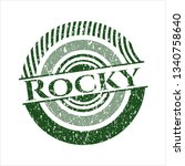 green rocky distressed rubber...   Shutterstock .eps vector #1340758640