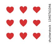 love icon vector. set heart... | Shutterstock .eps vector #1340761046