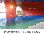 shipyard stern ship under...   Shutterstock . vector #1340764229