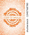 client testimonials orange... | Shutterstock .eps vector #1340768780