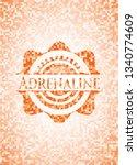 adrenaline orange mosaic emblem ...   Shutterstock .eps vector #1340774609